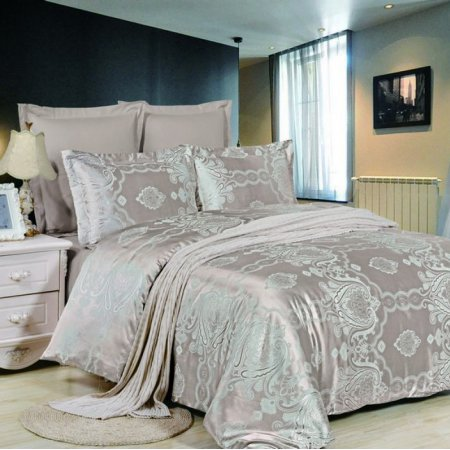«JC-44-173» двуспальное постельное белье, Сатин-Жаккард, Вальтери