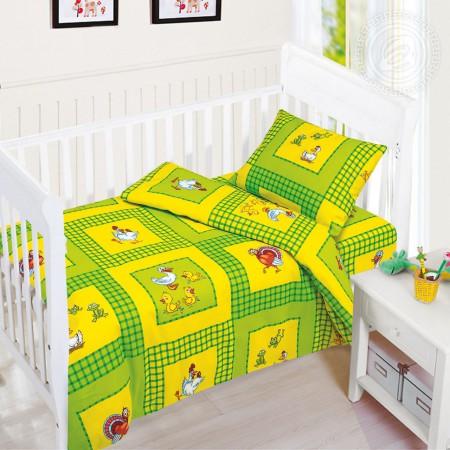 «Хуторок» дет. кроватка на резинке постельное белье, Бязь, Арт Дизайн