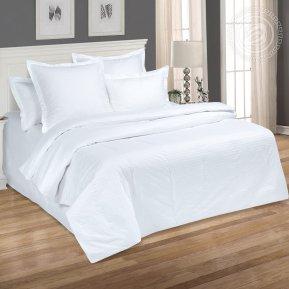 Постельное белье Белый 2,0+ЕВРО
