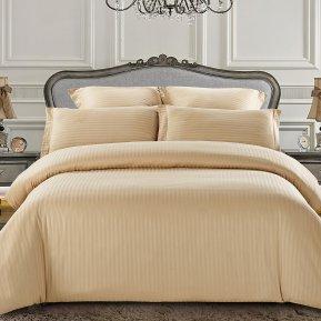 «CST01-07» 1,5 - спальное постельное белье, Сатин-Страйп, TANGO