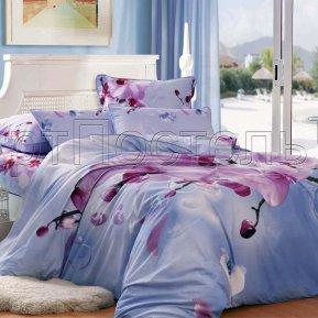 «Орхидея» ЕВРО постельное белье, САТИН-Велюр, Арт Дизайн
