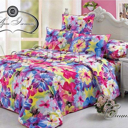 Постельное белье «Сицилия» двуспальное с европростыней, Сатин-Велюр, Арт Дизайн