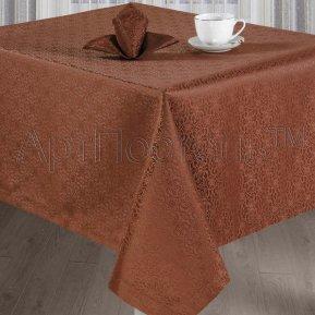 """Набор столового белья """"Шарлотта шоколад"""" ,150*150, Арт Дизайн"""