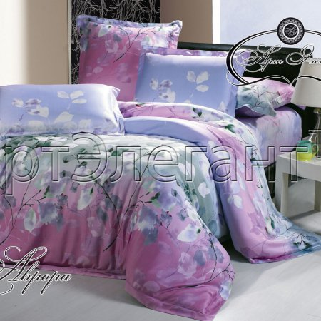 Постельное белье «Аврора №3» двуспальное с европростыней, Макосатин, Арт Дизайн