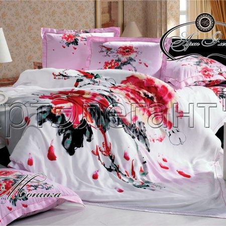 Постельное белье «Моника №2» двуспальное с европростыней, Макосатин, Арт Дизайн