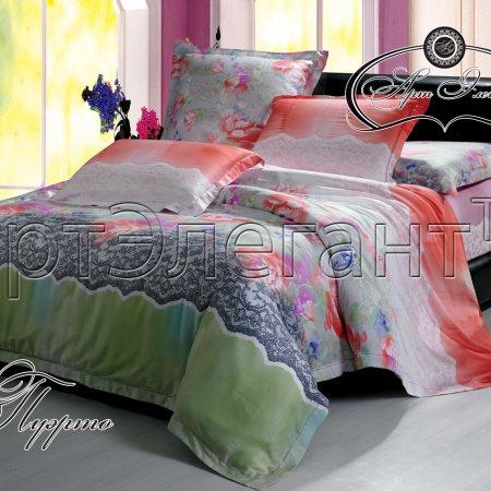 Постельное белье «Пуэрто» двуспальное с европростыней, Макосатин, Арт Дизайн