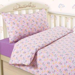Пчелки (розовый) дет. кроватка на резинке