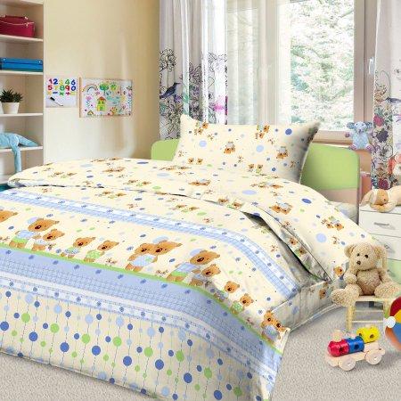 «56/027-ba» дет. кроватка постельное белье, Бязь, Cleo