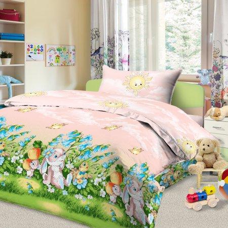 «56/030-ba» дет. кроватка постельное белье, Бязь, Cleo