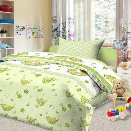 «56/032-ba» дет. кроватка постельное белье, Бязь, Cleo
