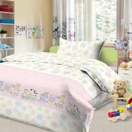 «56/033-ba» дет. кроватка постельное белье, Бязь, Cleo