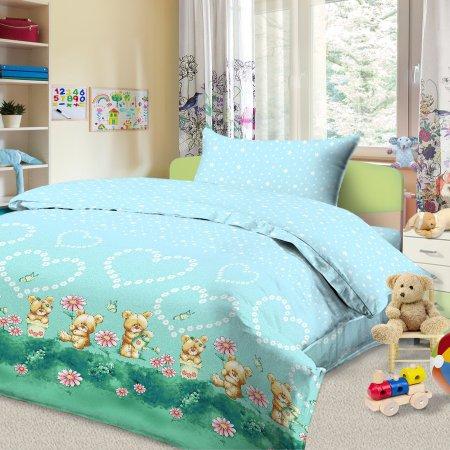 «56/022-ba» дет. кроватка постельное белье, Бязь, Cleo