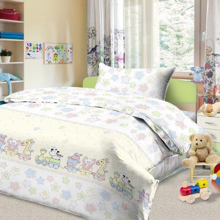 «56/034-ba» дет. кроватка постельное белье, Бязь, Cleo
