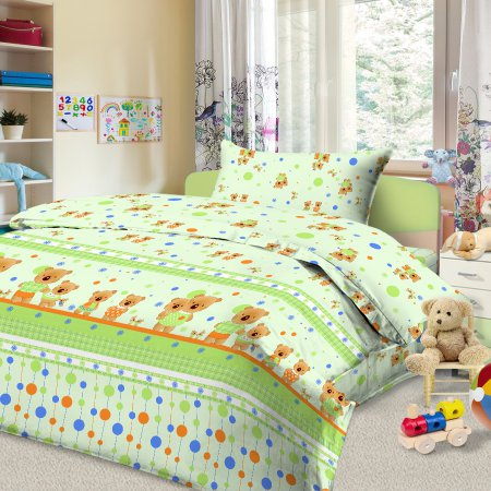 «56/026-ba» дет. кроватка постельное белье, Бязь, Cleo