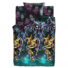 """Постельное белье Оптимус Прайм и Бамблби """"Transformers"""" 1,5"""