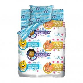 """Постельное белье Эмоджи Стайл """"Emoji movie"""" 1,5"""