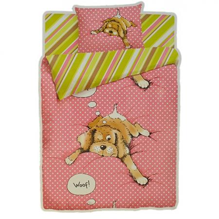 «Спящая собака» 1,5 - спальное постельное белье, Бязь, НордТекс