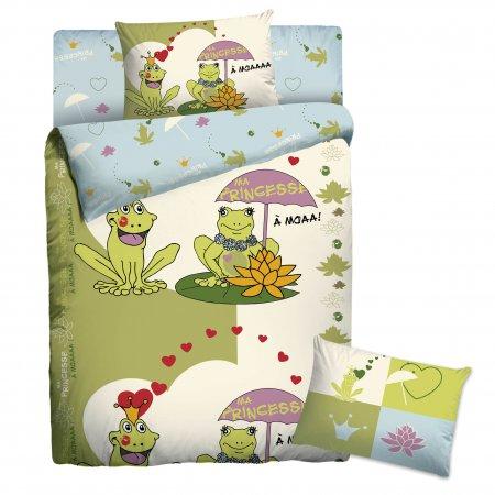 «Веселые лягушки» 1,5 - спальное постельное белье, Бязь, НордТекс