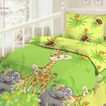 «Джунгли» дет. кроватка постельное белье, Бязь, НордТекс
