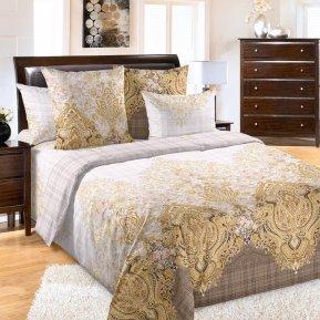 «Ребекка 2 беж» двуспальное постельное белье, Бязь, Текс-Дизайн