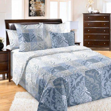 Постельное белье «Калиф 3 син.» двуспальное с европростыней, Бязь, Текс-Дизайн