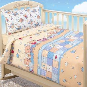 «Паровозик» дет. кроватка постельное белье, Бязь, Текс-Дизайн