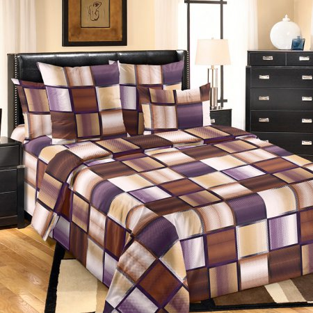 Постельное белье «Техно 1 кор.» двуспальное с европростыней, Бязь, Текс-Дизайн