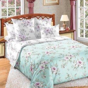 «Виктория 3 зел.» двуспальное постельное белье, Бязь, Текс-Дизайн