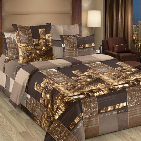 Постельное белье «Сити 4 кор.» двуспальное с европростыней, Бязь, Текс-Дизайн