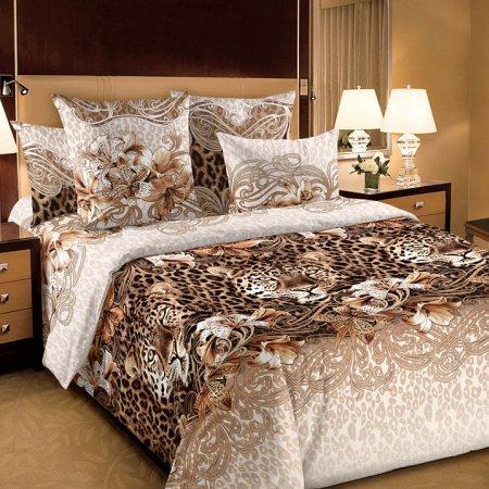 Постельное белье «Леопард» семейное, Бязь, Текс-Дизайн