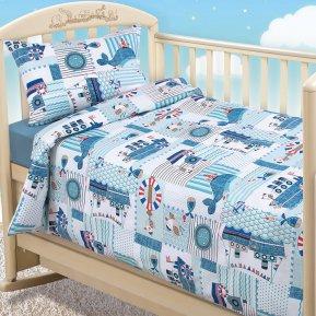 «Кораблики» дет. кроватка постельное белье, Бязь, Текс-Дизайн