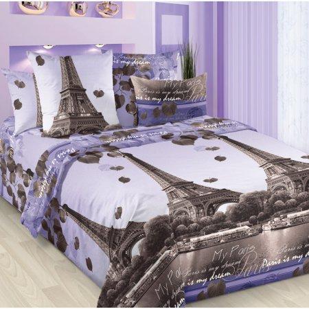 Постельное белье «Романтика Парижа» двуспальное с европростыней, Бязь, Текс-Дизайн