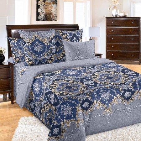 Постельное белье «Версаль» двуспальное с европростыней, Бязь, Текс-Дизайн