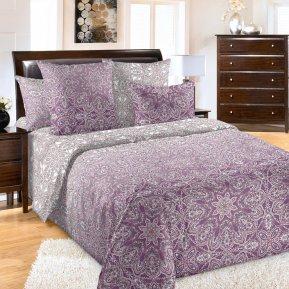 «Созвездие 4 фиол» двуспальное постельное белье, Бязь, Текс-Дизайн