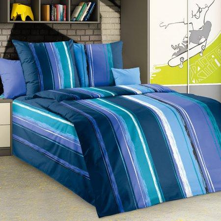 Постельное белье «Эстер 2 син» 1,5 - спальное, Бязь, Текс-Дизайн