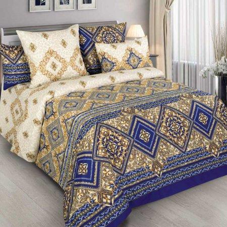 Постельное белье «Палаццо» двуспальное с европростыней, Бязь, Текс-Дизайн