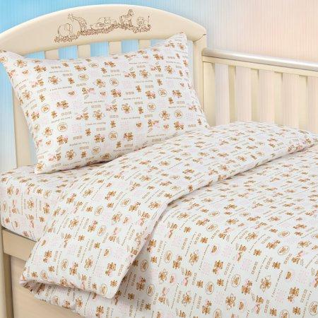 «Малыш роз» дет. кроватка постельное белье, Трикотаж, Текс-Дизайн