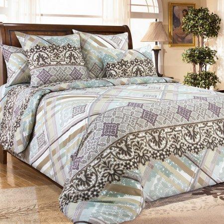 Постельное белье «Фландрия 3 беж.» двуспальное с европростыней, Бязь, Текс-Дизайн