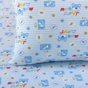 «Мой друг син» дет. кроватка постельное белье, Трикотаж, Текс-Дизайн