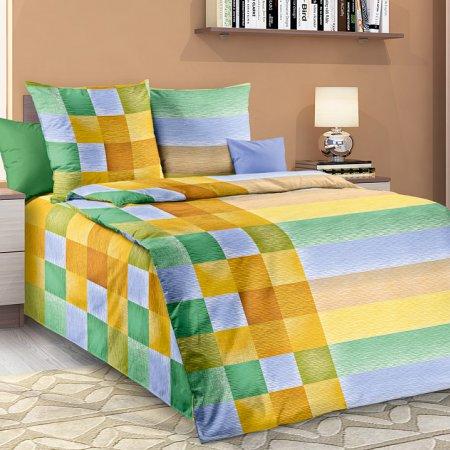 Постельное белье «Акапулько 1 зел» 1,5 - спальное, Бязь, Текс-Дизайн