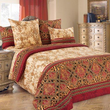 Постельное белье «Императрица 3» двуспальное с европростыней, Бязь, Текс-Дизайн