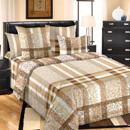 Постельное белье «Бруно 2» двуспальное с европростыней, Бязь, Текс-Дизайн