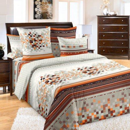 Постельное белье «Моцарт 1 оранж.» двуспальное с европростыней, Бязь, Текс-Дизайн
