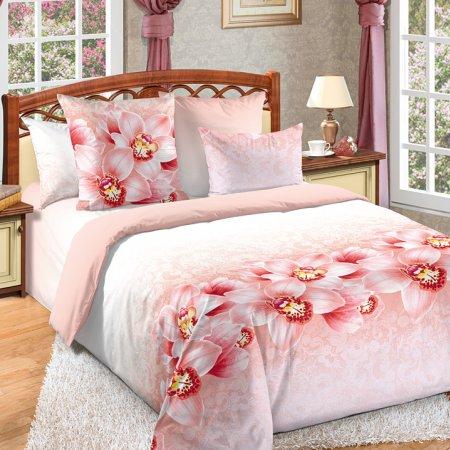 Постельное белье «Аромат орхидей» двуспальное с европростыней, Бязь, Текс-Дизайн