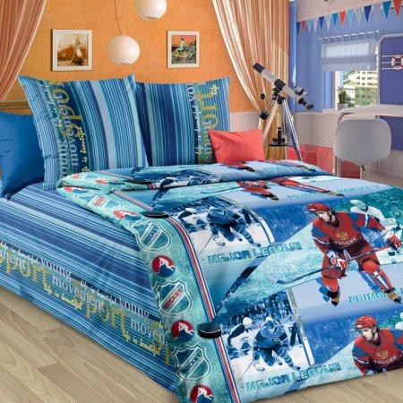 «Хоккей» 1,5 - спальное постельное белье, Бязь, Текс-Дизайн