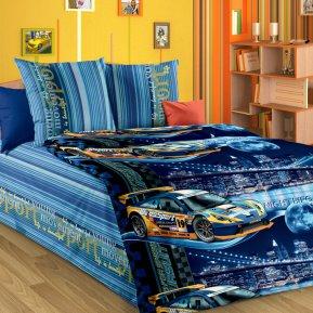 «Неон (син.)» 1,5 - спальное постельное белье, БЯЗЬ, Текс-Дизайн