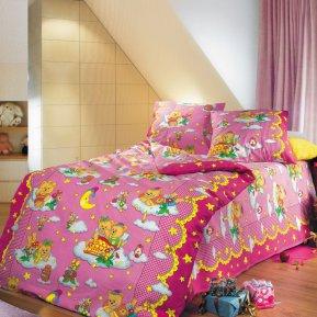 «Сладкий сон (розовый)» 1,5 - спальное постельное белье, БЯЗЬ, Текс-Дизайн