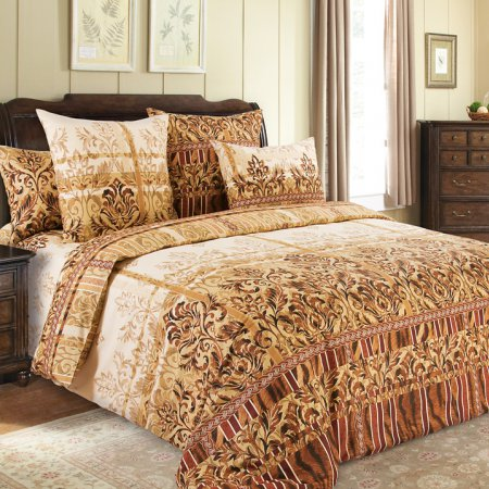 Постельное белье «Бакарди» 1,5 - спальное (на резинке), Бязь, Текс-Дизайн