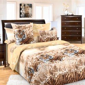 «Хранитель (коричневый)» семейное постельное белье, БЯЗЬ, Текс-Дизайн