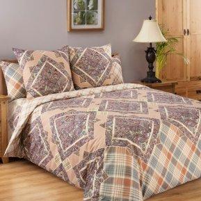 «Итальянка (бежевый)» семейное постельное белье, БЯЗЬ, Текс-Дизайн